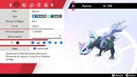 Pokemon KYUREM SHINY 6iv niveau 100 (épée/bouclier)
