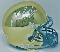 Rudy Ruettiger Autographed Notre Dame Fighting Irish Chrome Mini Helmet JSA A...