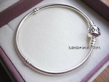 """NEW 100% Authentic PANDORA Charm/Beads Sterling SILVER ALE 925 Bracelet 7.9""""~20"""