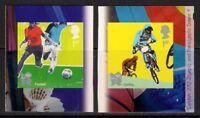 GB 2010 sg3108a-b Olympic & Paralympic 4 Football Cycling self adhesive MNH