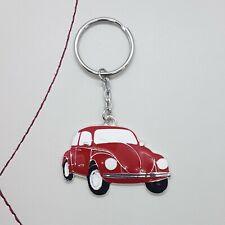 Red car beetle enamel keyring
