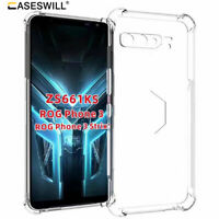 For ASUS ROG Phone 3 Strix Case Clear Transparent Shockproof Flexible TPU Cover