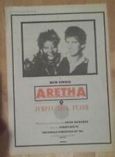 aretha franklin Keith Richards 1986 Presseanzeige komplette Page 28 x 39 cm