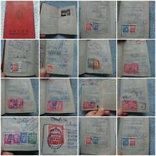YUGOSLAVIA 1962 Expired passport -  full of very rare revenue stamps