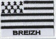 écusson ECUSSON BRODE PATCHE PATCH THERMOCOLLANT DRAPEAU BRETAGNE BREIZH 7X5 CM