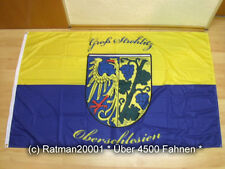Fahnen Flagge Oberschlesien Gross Strehlitz Digitaldruck - 90 x 150 cm