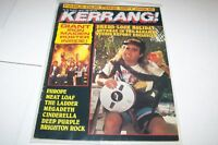 #142 KERRANG music magazine - ANTHRAX - MEAT LOAF