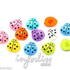 20 Botones con forma de mariquita varios colores