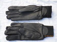Gloves Mens Black Leather,MDP,MGS,2008,Gr. 8, MOD Police Handschuhe,Wachdienst