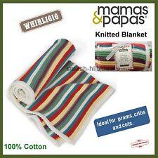 Mamas & Papas Knitted Baby Blanket Whirlgig 70 X 100cm Multi Coloured
