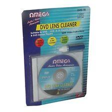 Omega CD VCD DVD Player Lente Láser + cabeza de líquido de limpieza limpiador de suciedad Kit de restauración