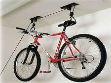 BICICLETTA bici soffitto Storage Rack PULEGGIA 30 KG rimessa Garage Loft CICLO dello spazio