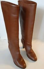 BANANA REPUBLIC Cognac Leather Knee High Boots Women's 6.5 EUC