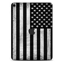 Skins Decal Wrap for Apple iPad Pro 11 2018-Black White Grunge Flag America