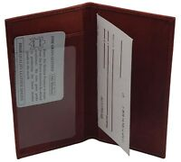 AG Wallets Premium Leather Burgundy Check Book Cover And Cash Holder