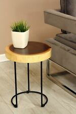 """18"""" Tall Wooden Side End Table Stool Night Display Wood Stand Accent Bar WST-IR1"""