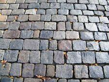 Altstadtpflaster gebraucht, anthrazit-bunt, historisches Großpflaster