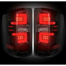 Recon Black/Smoke Fiber Optic LEDTail Lights For Sierra Silverado 1500 2500 3500