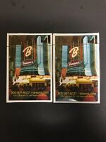 NEW SEALED DECKS x2 Binion's Hotel & Casino Las Vegas Playing Cards