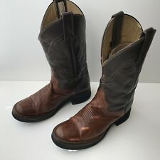 GORDY'S  Cowboy Leather Boots Brown Three-toned Youth 4 ½ C Women's Size 5 1/2
