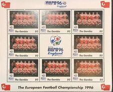 Gambia '96 Euro England Football Championship Stamp- Turkey Sheetlet of 9