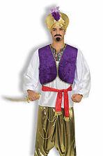 Adult Desert Prince Shirt and Vest Combo Aladdin Genie Shirt Adult Size Standard