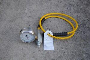 ENERPAC GP-10S HYDRAULIC GAUGE GA2 HC7206Q  1/4 HOSE PORT FOR 142 PUMPS