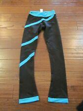 Chloe Noel Skate Pants CM Ice skating Pants  Blue on Black       #85A