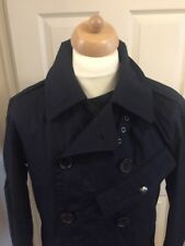 RALPH LAUREN NEW MENS AVIATOR NAVY BLUE FORMAL PEA COAT - SIZE MEDIUM RRP £495