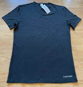 Calvin Klein men's night wear T-shirt size M Black colour brand new with labels
