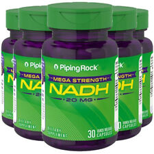 Piping Rock Mega Strength NADH 20 mg 5X30 Caps Memory/Mental/Brain Health