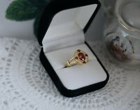 Art Deco Vintage Jewellery Gold Ring Ruby And White Sapphires Antique Jewelry