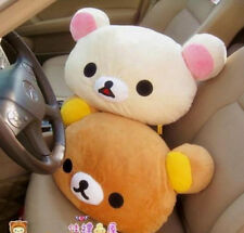 New Rilakkuma San-X Relax Bear Head Plush 2in1 Cushion Pillow ~Brown~ kids gifts