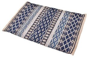 2X3 Ft. Area Rug Traditional Carpet Wool & Jute Rug Woven Rugs Multi Braided Mat