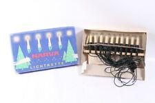 DDR Narva Lichterkette 10tlg Christbaumbeleuchtung Kerzen Weihnachtsbaum