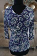 NEW Bali Hai Hawaii Pashma Anthropologie SOFT Floral Print Shirt Blouse Top S