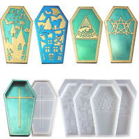 Crystal Trinket Box Resin Mold Coffin Box Silicone Mould Jewelry Making Tools