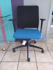 Chaise Bureau Fauteuil Siège MOVING Italy Ergonomique accoudoir couleur bleu