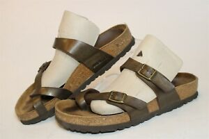 Birkenstock Germany Made Mayari Womens 6 37 Metallic Birko-Flor Sandals Shoes