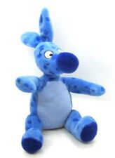 "Disney BLUE WOOZLE 8.5"" Beanbag Stuffed Animal Toy Winnie Pooh Blue Polka Dots"