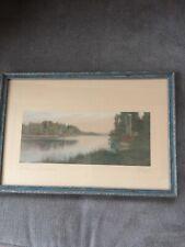 "Charles Sawyer Rangeley Lake ""Indian Summer"" Hand Color Photo Maine"