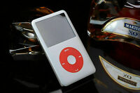 Apple iPod Classic 7th Generation 256GB Silver/Red With 2000mAh Sony Battery