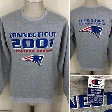 Vintage 2001 New England Patriots Champion CONNECTICUT MOVE Sweatshirt RARE 90s