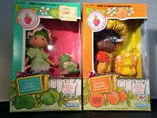 2 Kenner Strawberry Shortcake Dolls ORANGE BLOSSOM & LIME CHIFFON in Box SEALED