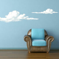Wall Vinyl Sticker Bedroom Design Set of 2 Cloud (Z826)