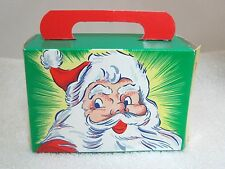 Vintage Christmas Holiday Greeting Santa Box Kris Kringle 41/4 x3x 13/4 Old! T69
