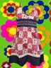 98✪ Country Patchwork Neckholder Hippie Mini Kleid dress Boho Blumen Jeans Sara