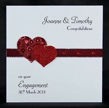 Personalised Handmade Engagement Card by Bijou Crafts - Ideal Ruby Anniversary