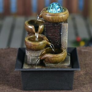 Tabletop Waterfall Fountain Portable Kit Relaxation Lucky Home Decorations Gifts