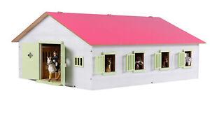 KidsGlobe Pferdestall Bauernhof, mit 7 Pferdeboxen, Holz, Reiterhof mit Faltdach